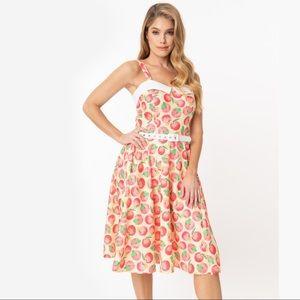 UNIQUE VINTAGE Peaches & Cream Rachel Swing Dress